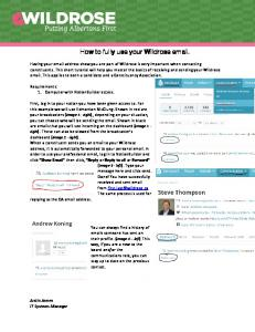 How to fully use your Wildrose email. fully use your