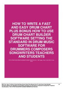 how to write a fast and easy drum chart plus bonus