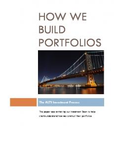 How We Build Portfolios