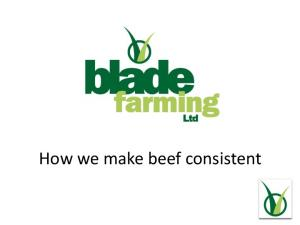 How we make beef consistent