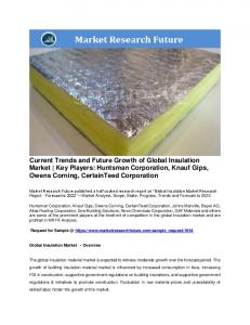 Insulation Market Information by Material (Fiberglass, Plastic fibers, Mineral Wool, Natural fibers and others) and by Applications (Residential, and Non-residential)& Region - Forecast to 2022