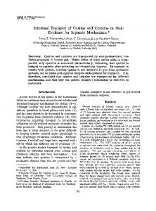 Intestinal transport of cystine and cysteine in man: evidence for
