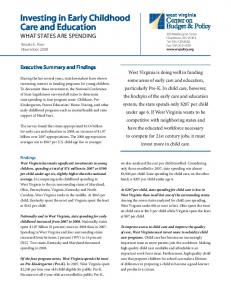 Investing in Early Childhood Care and Education