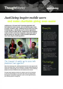 JustGiving inspire mobile users - Fileburst