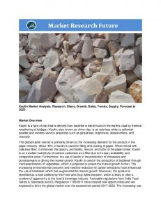 Kaolin Market Research Report – Forecast to 2023