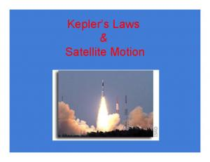 Kepler's Laws & Satellite Motion