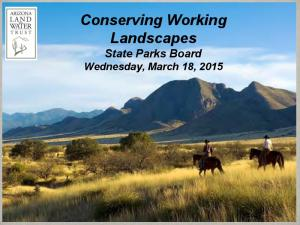 Land and Water Trust Presentation