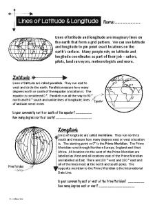 Lines of Latitude & Longitude