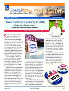 Make rural issues a priority in 2016 - Coastal Electric Cooperative