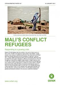 Mali's Conflict Refugees: Responding to a ... - Oxfam International