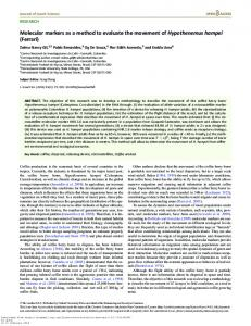 Molecular markers as a method to evaluate the ... - Oxford Academic