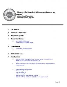 Morrisville Board of Adjustment (meets as needed)