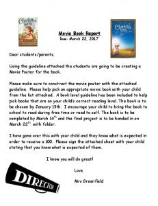 Movie Book Report