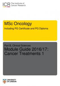 MSc Oncology