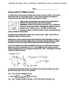 Name: Break-out session #15: Colligative Properties (1) Explain why
