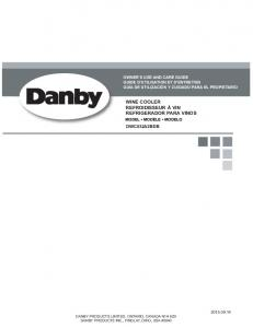 Owner's Manual - Danby Appliances