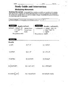 Page 1 NAMF - PTF -FEROP - Study Guide and Intervention