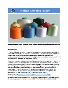 Paraxylene Market Research Report – Forecast to 2023 Paraxylene Market Research Report – Forecast to 2023