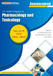 Pharmacology and Toxicology