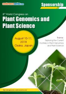 Plant Genomics and Plant Science