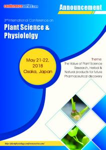 Plant Science & Physiololgy