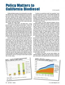 Policy Matters to California Biodiesel
