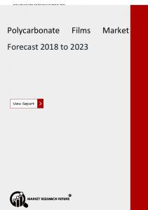 Polycarbonate Films Market- Global Trends, Top Key Players Insight and Forecast 2023