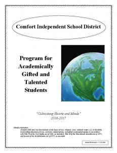 Program for Academically Gifted and Talented Students
