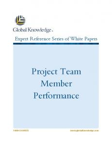 Project Team Member Performance