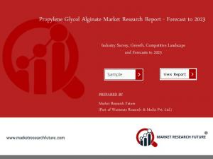 Propylene Glycol Alginate Market 2018: Overview, Top Key Players, Growth and Analysis by Forecast 2023