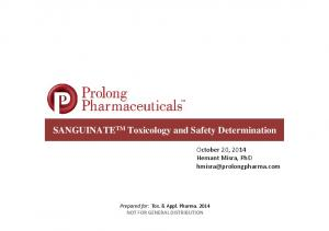 SANGUINATETM Toxicology and Safety Determination