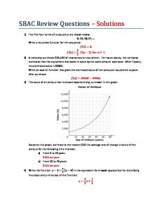 SBAC Review Questions – Solutions