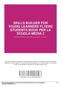 skills builder for young learners flyers students book