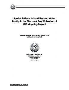 Spatial Patterns in Land Use and Water Quality in the