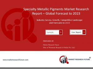Specialty Metallic Pigments Market Expected to Retain Dominance by Application & New Types to 2023