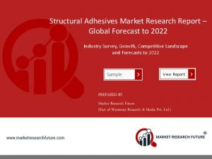 Structural Adhesives Market 2018 to 2022 | Application, Types & Regional Analysis