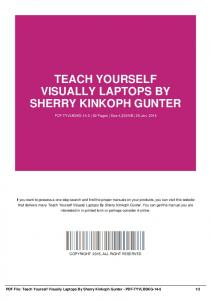 teach yourself visually laptops by sherry kinkoph