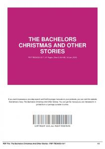 the bachelors christmas and other stories-pdf-tbcaos