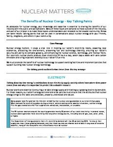 The Benefits of Nuclear Energy – Key Talking Points