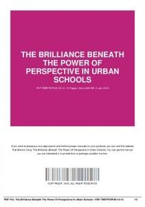 the brilliance beneath the power of perspective in urban schools-pdf