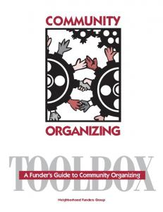 The Community Organizing Toolbox
