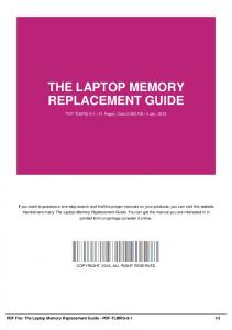 the laptop memory replacement guide-pdf-tlmrg-9-1