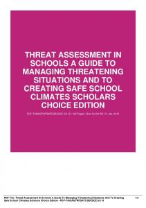 threat assessment in schools a guide to managing
