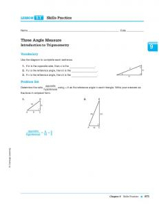Three Angle Measure - Central CUSD 4