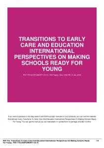 transitions to early care and education international