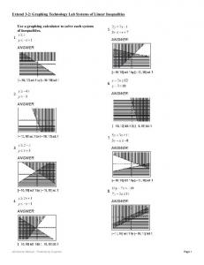 Use a graphing calculator to solve each system of