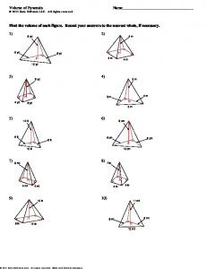 Volume of Pyramids - Cobb Learning