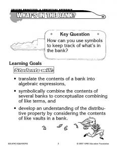 What's in the Bank - Cobb Learning