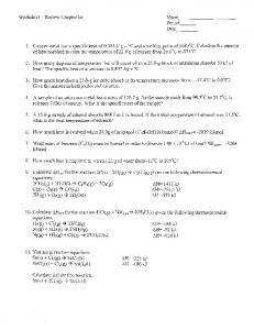 Worksheet ~ Review Chapter 16