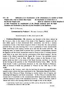 XVI. On the results of an examination of the orientations of a number of